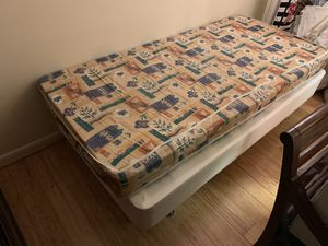 Twin bed frame with mattress for Sale in Arlington, VA