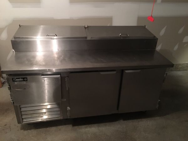 6ft pizza refrigeration table