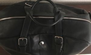 Black Leather Coach Duffle Bag for Sale in Austin, TX