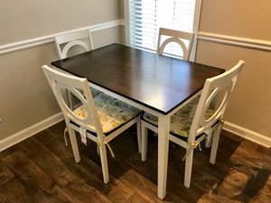 Dining Table - 4 Chairs, Cushions - White - Like NEW for Sale in Atlanta, GA