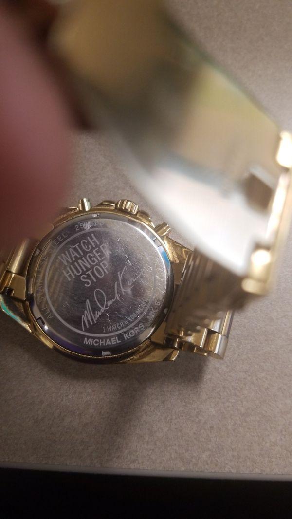 ce94807d6773 Michael Kors Bradshaw Watch Hunger Stop 100 MK6272 Gold Oversized ...