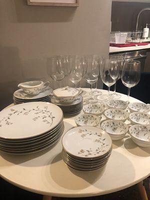 Gold Rim Dishware and Wine Glasses for Sale in Washington, DC