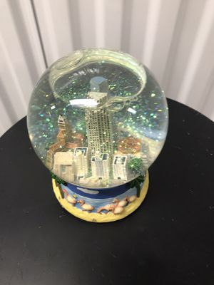 Snow Globe plays Christmas song. Shows a Miami Florida scene for Sale in Ocala, FL