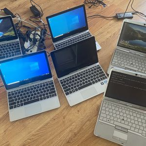 Lot 6 laptops with issues hp revolve/hp Elitebook i5 touchscreen Ssd 128gb/HDD 500gb Ram 4gb for Sale in Queens, NY
