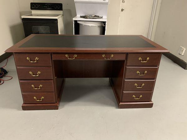 "Heritage Hill 65""W Double-Pedestal Desk"