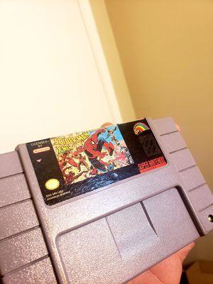 Super Nintendo Spiderman X-Men Arcade's Revenge for Sale in West Covina, CA
