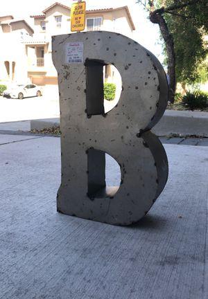 "Metal Letter ""B"" for Sale in Las Vegas, NV"
