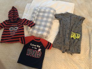 2 Baby toddler blankets and clothes 12-18 month for Sale in North Miami Beach, FL