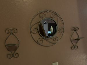 Wall decor (holds candles/mirror) for Sale in Miami Springs, FL