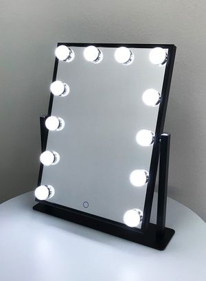 """New $70 each Vanity Mirror 12 Dimmable Light Bulbs Hollywood Beauty Makeup, 16""""x12"""" for Sale in El Monte, CA"""