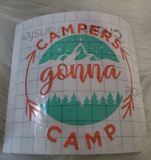 Campers gonna camp vinyl decal