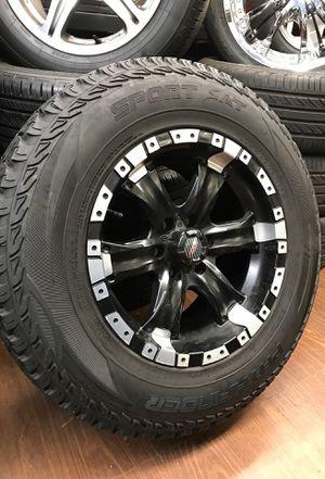 "2 16"" MB wheels / rims Dodge Nissan Xterra 6x4.5 w/ 245/70/R16 pathfinder sport A/T tires 85% for Sale in Portland, OR"