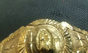 """10kt double curb link bracelet with virgin de Guadalupe on top 27.2 grams 8.5 """" for Sale in Houston, TX"""