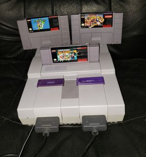 Super Nintendo with 3 games 2 controllers... NO SHIPPING! for Sale in Lewisville, TX