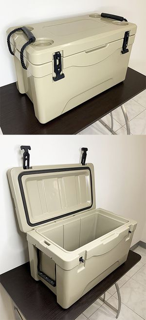 """New $70 Heavy-Duty 40qt Ice Box Cooler w/ Cup Holder & Carry Handle 24""""x13""""x15"""" for Sale in Whittier, CA"""