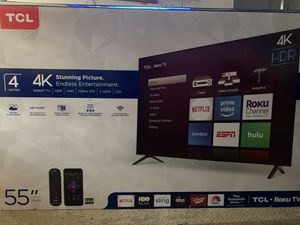 TCL 55in 4K 4 Series HDR Roku Tv for Sale in Troutman, NC