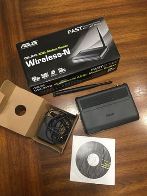 ASUS DSL-N10 150 Mbps 4-Port 10/100 Wireless N ADSL Modem Router for Sale in Nicholasville, KY