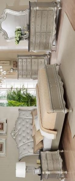 [SPECIAL] Angelina Silver Bedroom Set | B1020 [FREE CHEST]Dresser Mirror Nightstand bed frame queen for Sale in Houston, TX