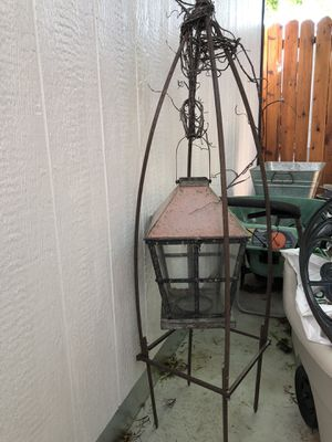 Metal garden stake candle holder/lantern for Sale in Wenatchee, WA