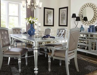 👉An Elegant Touch✔️$39 Down Payment ❤Orsina Silver Mirrored Extendable Dining Set by Homelegance for Sale in Philadelphia,  PA