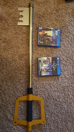 Kingdom hearts 1.5+2.5/ KH3 and metal key blade for Sale in Norcross, GA