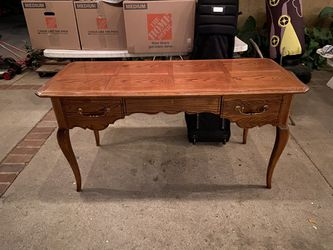 Solid wood secretary desk with glass top for Sale in Los Angeles,  CA