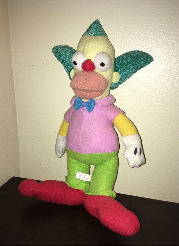 krusty the clown plush toy