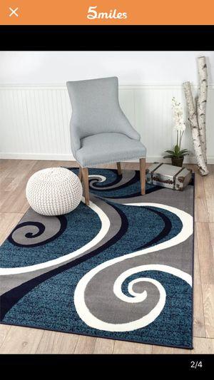 Brand new modern rug size 8x11 nice blue carpet for Sale in Fairfax Station, VA