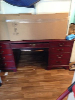 Executive cherry wood desk for Sale in Beaverton, OR