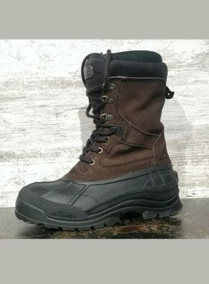 Mens KAMIK National Plus Waterproof Winter Boots SZ 8 41 Brown Black Rubber Used for Sale in Cuyahoga Falls, OH