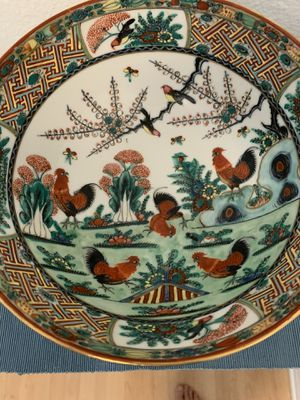 Decorated Vintage Hong Kong Rooster Bowl for Sale in El Camino Village, CA
