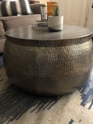 Silver hammered metal coffee table for Sale in Los Angeles, CA