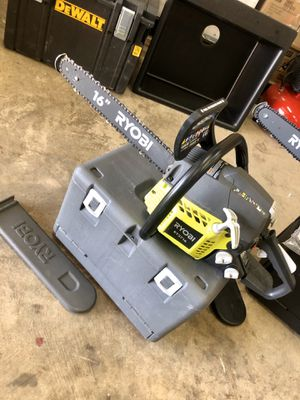 RYOBI 16 in. 37cc 2-Cycle Gas Chainsaw with Heavy-Duty Case for Sale in Arlington, TX