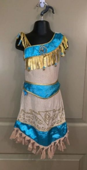 Disney Store Pocahontas dress shoes and poncho dress size 7/8 shoes 13/1 for Sale in Virginia Beach, VA