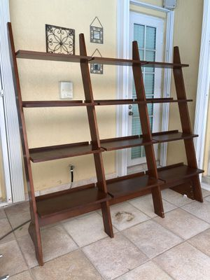 Solid Wood Tall 4 shelf Ladder Bookcase for Sale in Miami, FL