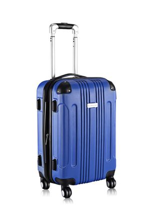 GLOBALWAY Expandable 20'' ABS Luggage Carry on Travel Bag Trolley Suitcase Blue for Sale in Highland, CA
