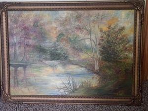 Original Oil on Canvas Signed Art 1948 Listed Artist Read Description for Sale in Christiansburg, VA