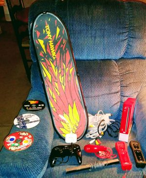 *Clearance pricing* Red collectors edition Super Smash Bros Wii game system w/ Tony Hawk Shred + board! for Sale in Smyrna, TN