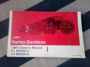 1981 HD Owners manual for Sale in Phoenix, AZ