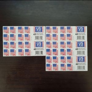 5 books of US Flag 20 first class forever stamps 2018 USA Forever 100 total for Sale in San Bernardino, CA