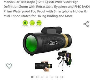 Monocular Telescope [12~16] x50 Wide View High Definition for Sale in Oldsmar, FL