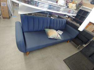 Beautiful blue mid-century replica futons sofas split-back three-position $324.99 for Sale in Phoenix, AZ