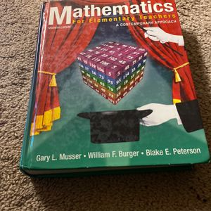 Mathematics For Elementary Teachers A Contemporary Approach Seventh Edition for Sale in Trenton, NJ