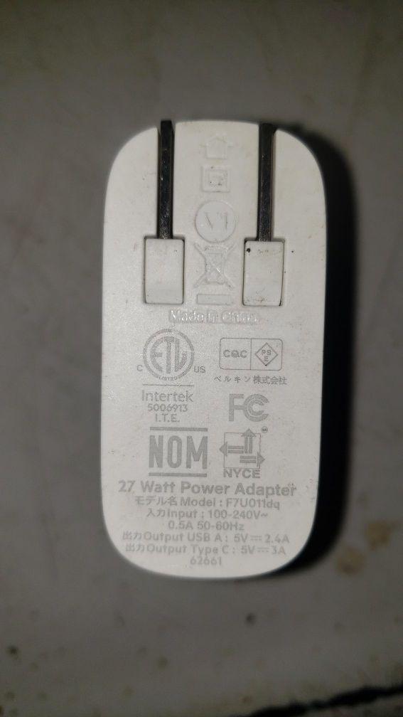 Belkin 27w power adapter