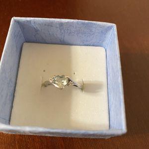 Aquamarine And diamond Ring for Sale in Rustburg, VA