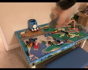 Thomas and friends wooden rail table for Sale in Atlanta, GA