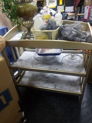 Beautiful Gold and Marble Changing Table for Sale in Cayce, SC