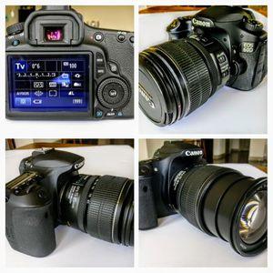 Like-NEW Canon EOS 60D 18MP DSLR Camera-Kit w/2 Lenses for Sale in Houston, TX