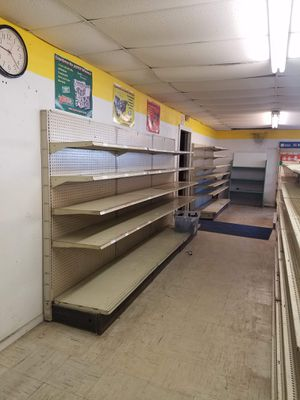 Metal stock shelving with peg board for Sale in Hockley, TX