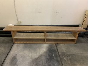 Indoor / outdoor bench / wood / with shelves or shoe rack for Sale in Emeryville, CA